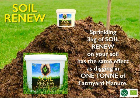 3Kg Soil Renew = 1 Ton Farmyard Manure
