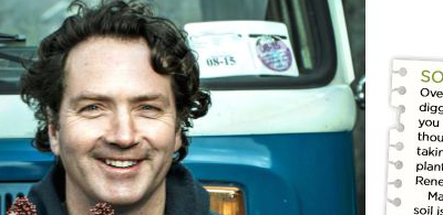 Diarmuid Gavin features Soil Renew Irish Independent 21st March 2015